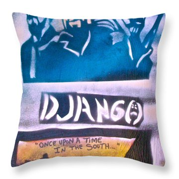 Django Once Upon A Time Throw Pillow by Tony B Conscious