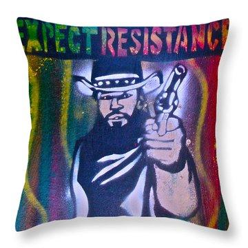 Django Rasta Resistance Throw Pillow by Tony B Conscious