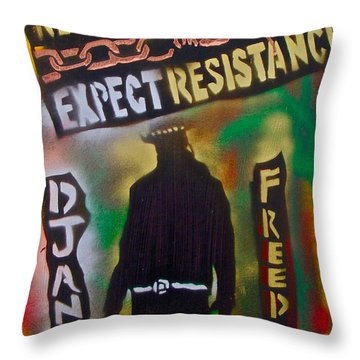 Django Resistance Throw Pillow by Tony B Conscious