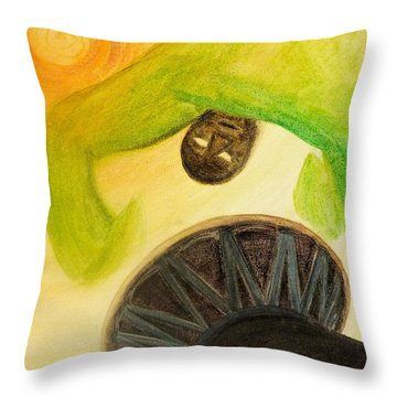 Djembe Throw Pillow