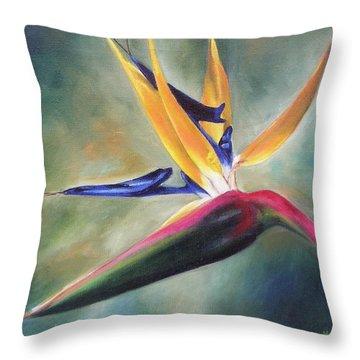Dj's Flower Throw Pillow