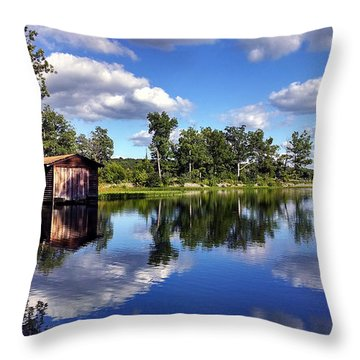 Devils Dock Throw Pillow