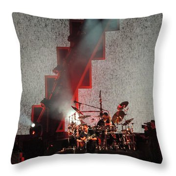 Dmb Members Throw Pillow by Aaron Martens