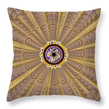 Dna Miracle Creation Throw Pillow by Derek Gedney