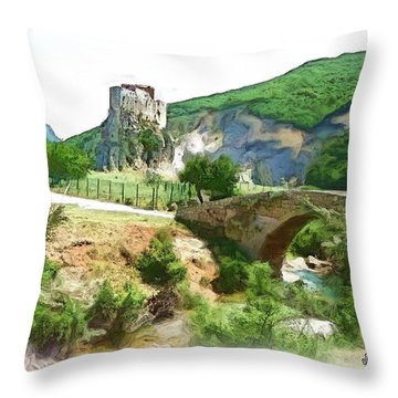 Do-00403 Mussaylaha Fort  Throw Pillow