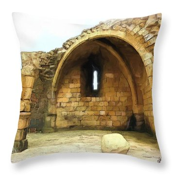 Throw Pillow featuring the photograph Do-00427 Citadel Of Sidon by Digital Oil