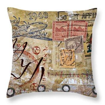 Do Not Affix Stamp Throw Pillow