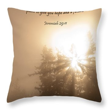 Do Not Be Afraid Throw Pillow by Jani Freimann