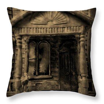 Do Not Enter Throw Pillow by John Malone