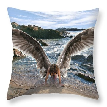 Do Not Fear I Have Come In Your Defense Throw Pillow