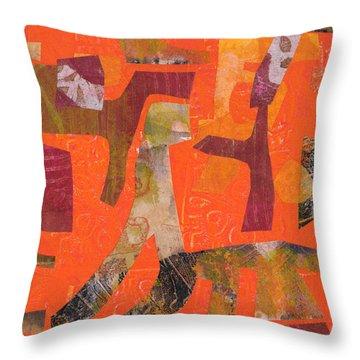 Throw Pillow featuring the mixed media Do Not Feed The Dinosaurs by Catherine Redmayne