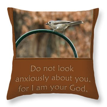 Do Not Look Anxiously About You Throw Pillow