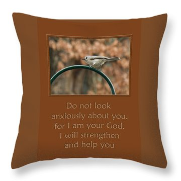 Do Not Look Anxiously About You Throw Pillow by Denise Beverly