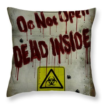 Do Not Open  Throw Pillow by Cinema Photography