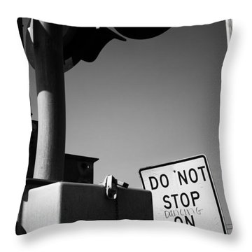 Throw Pillow featuring the photograph Do Not Stop Dancing On Tracks by Jason Politte