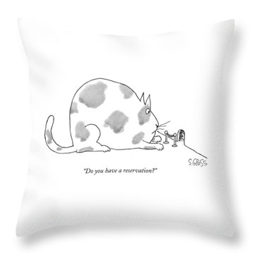Do You Have A Reservation? Throw Pillow