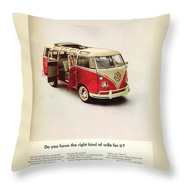 Do You Have The Right Kind Of Wife For It Throw Pillow by Nomad Art and Design