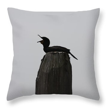 Throw Pillow featuring the photograph Do You Hear Me? by Vadim Levin
