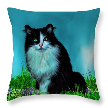 Do You Mind Throw Pillow by Tyler Robbins