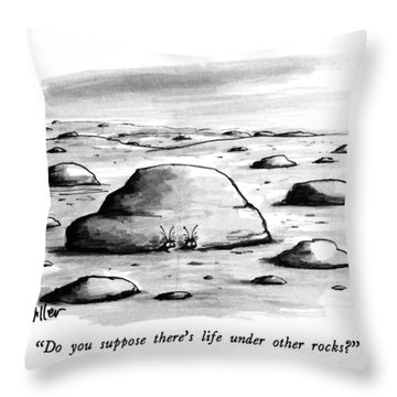 Do You Suppose There's Life Under Other Rocks? Throw Pillow
