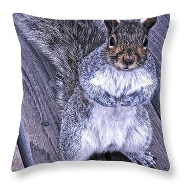 Do You Think I'm Cute Throw Pillow