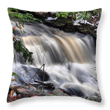 Doane's Lower Falls In Central Mass. Throw Pillow