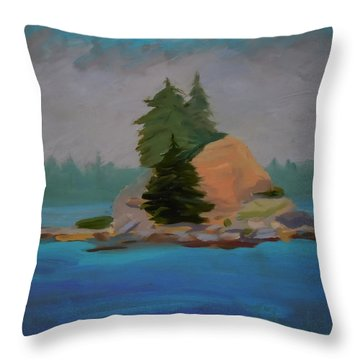 Throw Pillow featuring the painting Pork Of Junk by Francine Frank