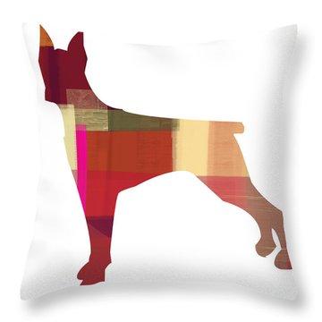 Doberman Pinscher Throw Pillow by Naxart Studio