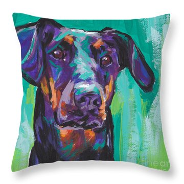 Dobie Love Throw Pillow