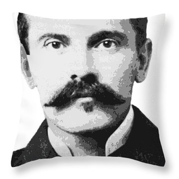 Doc Holliday Of The Old West Throw Pillow