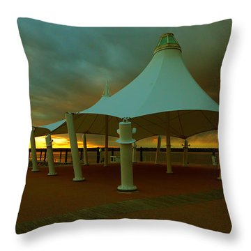 Dock At National Harbor Throw Pillow