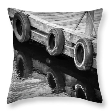 Dock Bumpers Throw Pillow by Melinda Ledsome