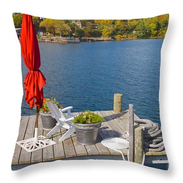 Throw Pillow featuring the photograph Dock By The Bay by William Norton