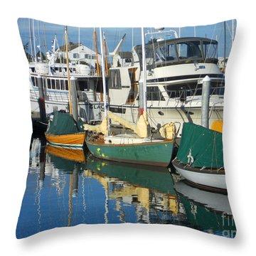 Dock Of The Bay Throw Pillow by Lauren Leigh Hunter Fine Art Photography