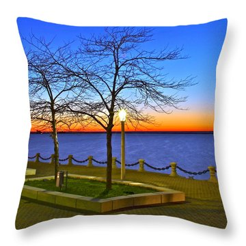 Dock Of The Bay Throw Pillow by Frozen in Time Fine Art Photography