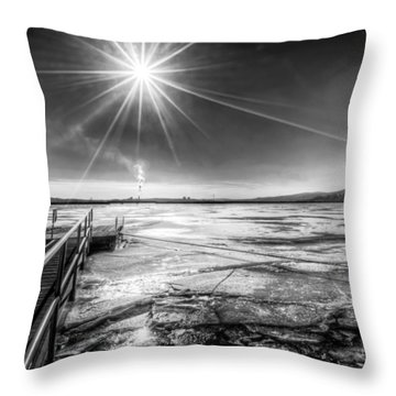 Throw Pillow featuring the photograph Dock by Rafael Quirindongo