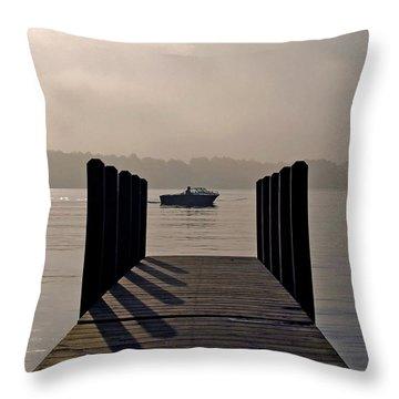 Dock Shadows Throw Pillow