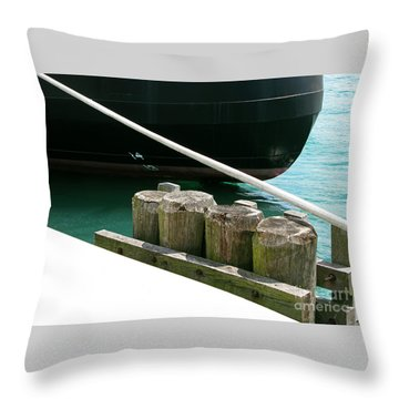 Docked Throw Pillow by Ann Horn
