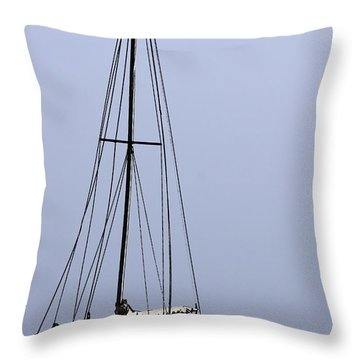 Throw Pillow featuring the photograph Docked At Bay by Lilliana Mendez