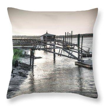 Docks Of The Bull River Throw Pillow
