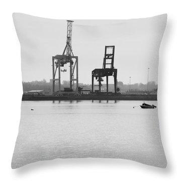 Docks Throw Pillow by Svetlana Sewell