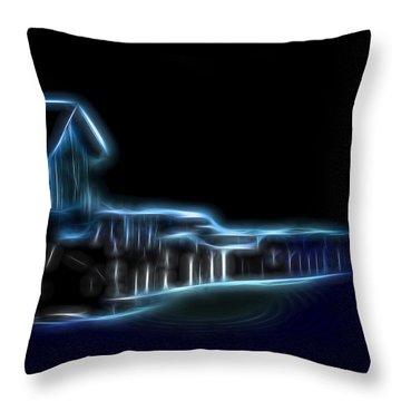 Dockside Moonlight Throw Pillow