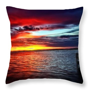 South Hutchinson Island Throw Pillows