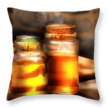 Doctor - Alchemy Made Easy  Throw Pillow by Mike Savad