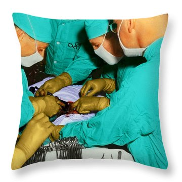 Doctor - Concentration Required Throw Pillow by Mike Savad