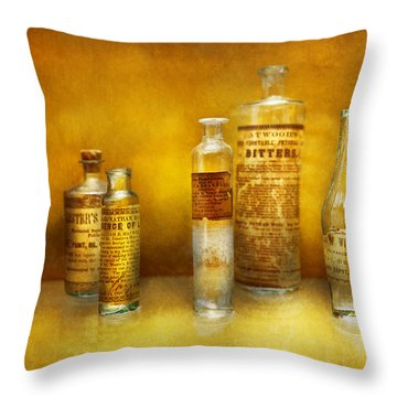 Doctor - Oil Essences Throw Pillow by Mike Savad