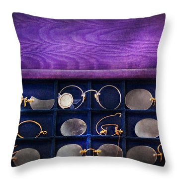 Doctor - Optometrist - Many Styles To Choose From  Throw Pillow by Mike Savad
