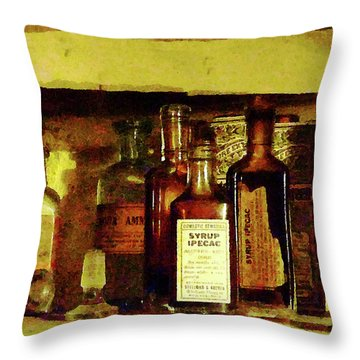 Doctor - Syrup Of Ipecac Throw Pillow