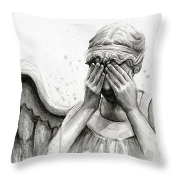 Doctor Who Weeping Angel Don't Blink Throw Pillow