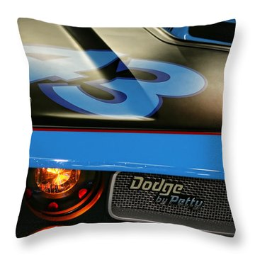 Throw Pillow featuring the photograph Dodge By Petty by Gordon Dean II